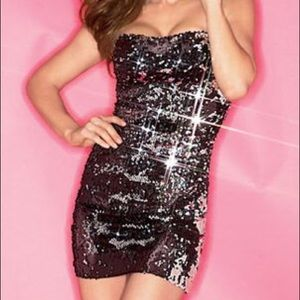 🖤 Fredricks Hollywood 🖤 sequin strapless dress